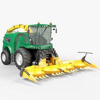 forage harvester 3D model