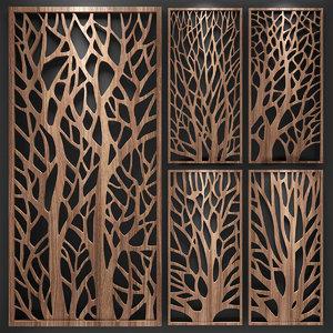 decorative partitions pattern 3D