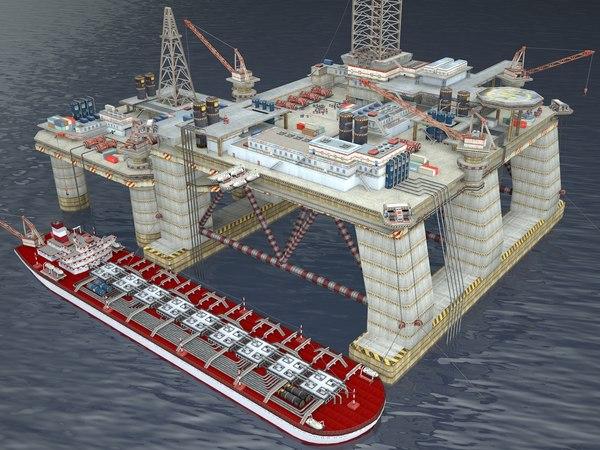 oil derrick constructor 3D model