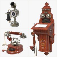 Antique Phones Set