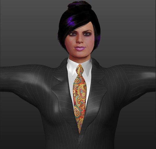 3D rigged business women