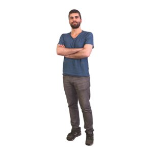 3D scanned standing