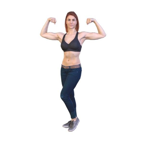 3D scanned girl body model