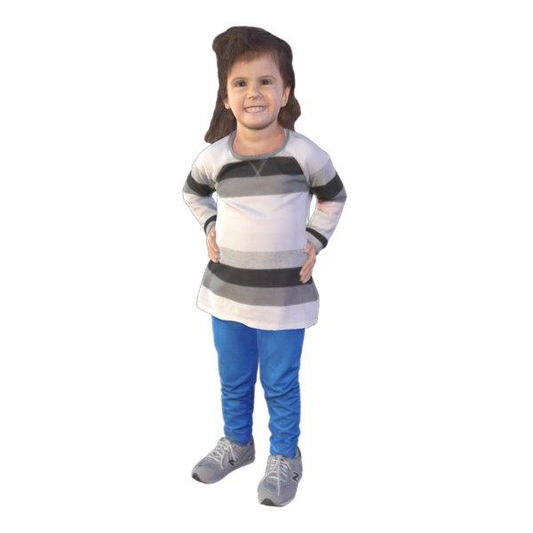 3D scanned girl
