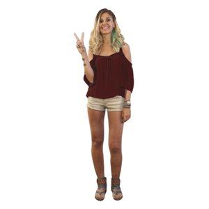 scanned girl peace 3D model