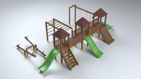3D garden playground furniture model