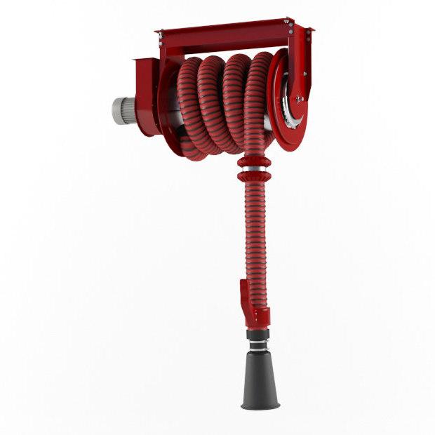 3D engine exhaust hose reels model