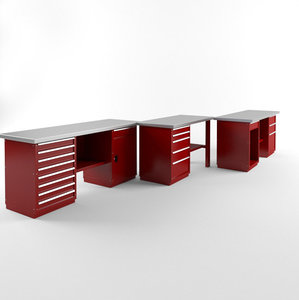 3D workbenches car service 2 model