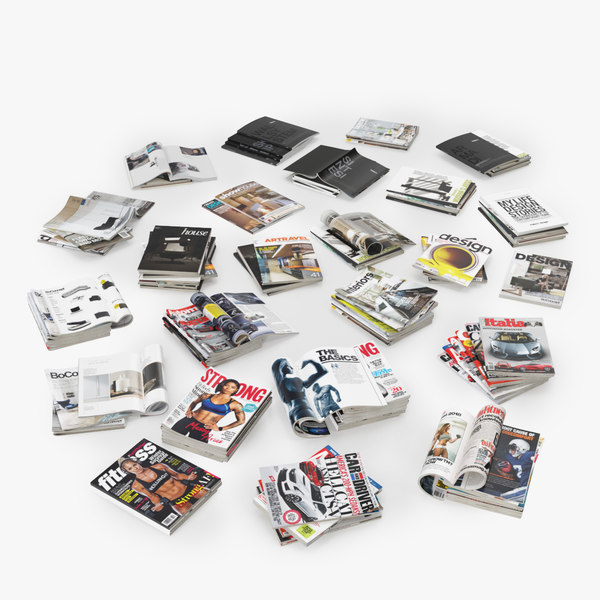 3D mega pack magazines open