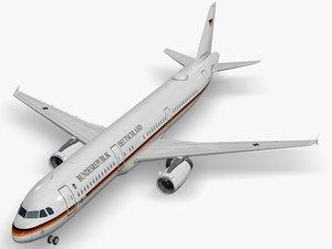 3D airbus a321-231 air force