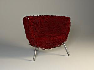 chair edra vermelha 3D model