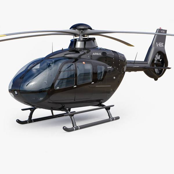 3D airbus helicopter h135 eurocopter ec135 model
