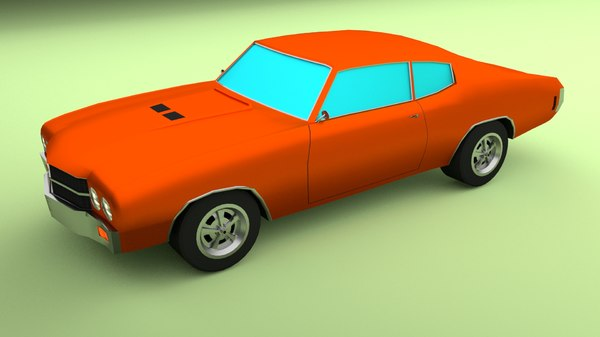 simple muscle car 3D