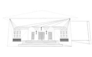 3D villa modern house home