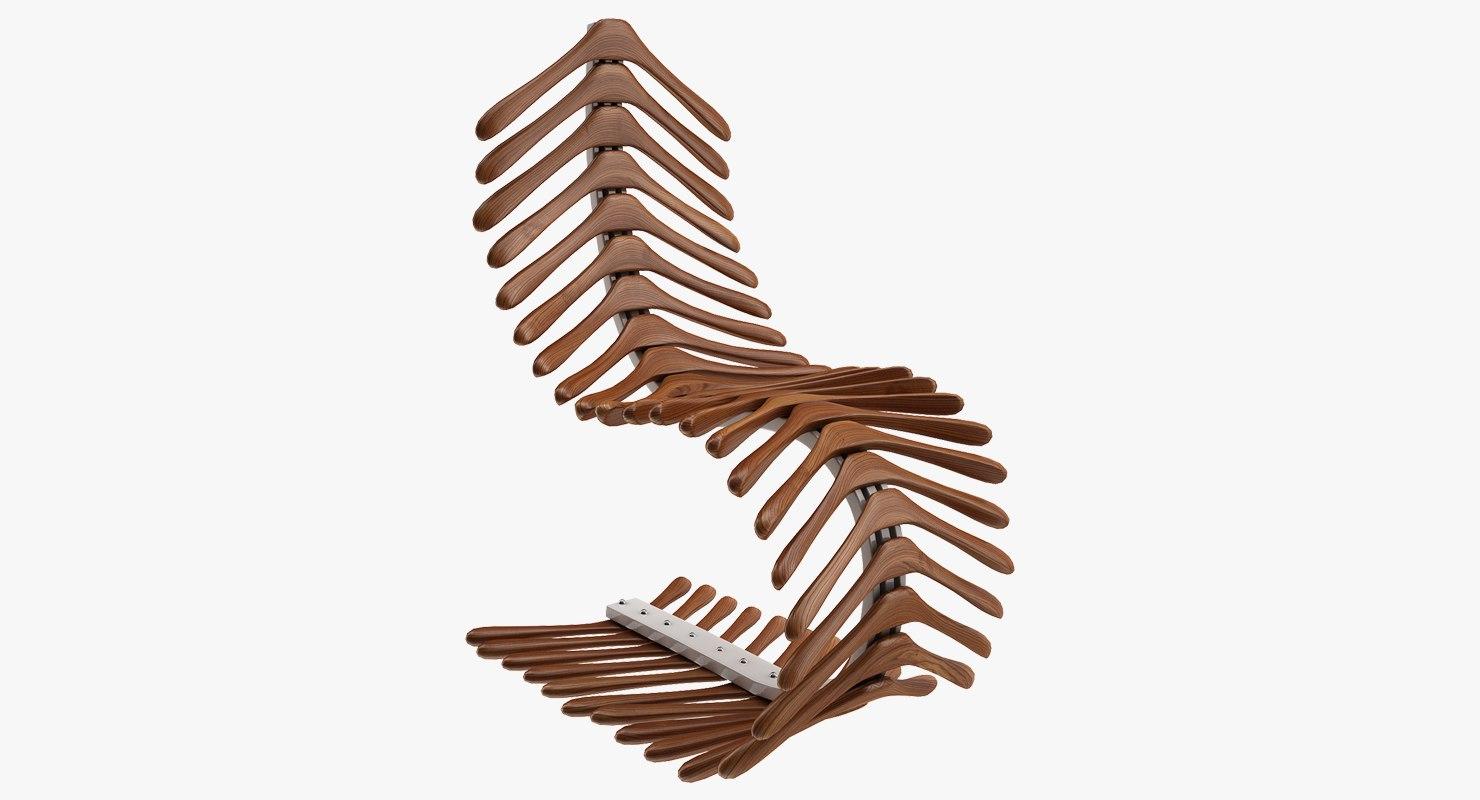 chair hangers 3D model