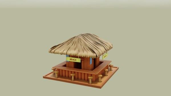 3D beach kiosk