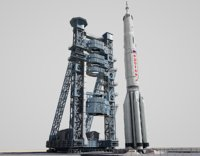 proton launch space rocket 3D
