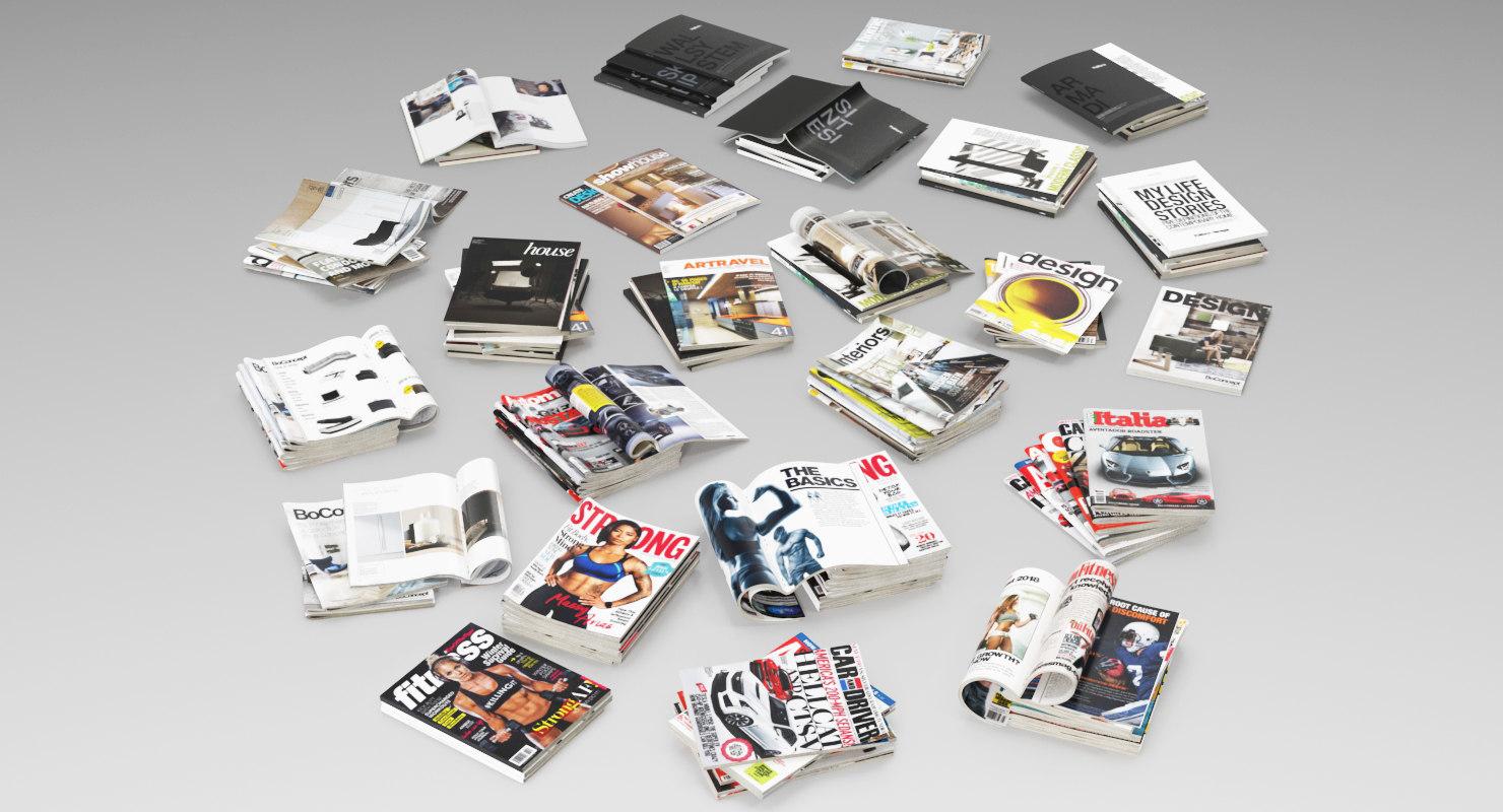 3D mega pack magazines open