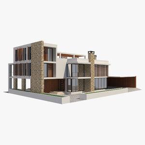 3D modern house 4