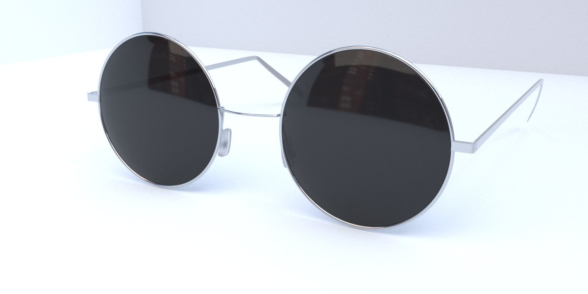3D sunglass sun model