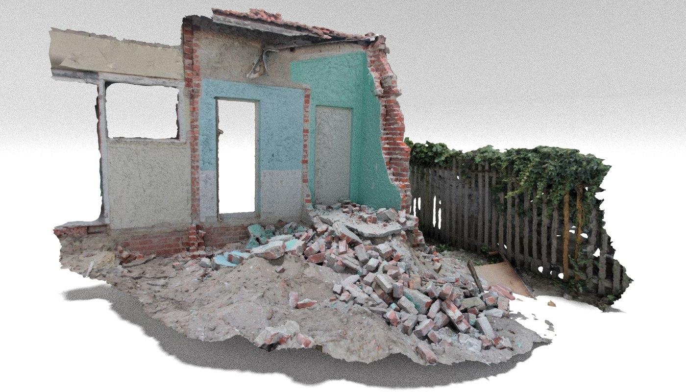 demolition site 3 rubble model