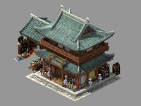 song dynasty-east city-ceramic shop 3D model