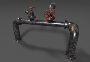 3D piping dirty model