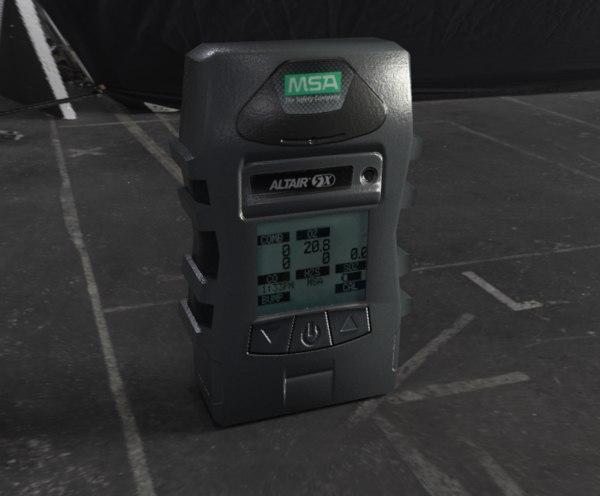 3D model gas gasdetector