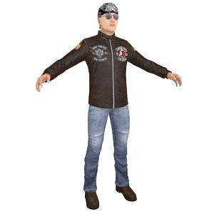 3D biker man 2