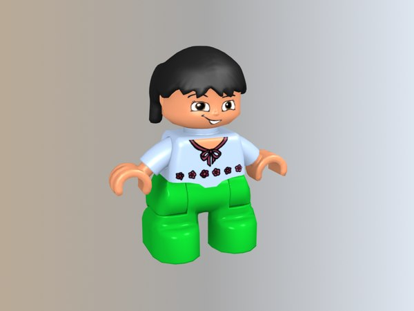 lego duplo girl 3D model