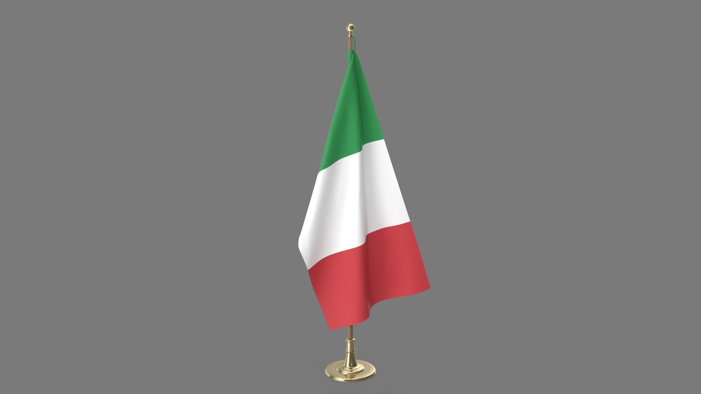 italian office flag 3D model