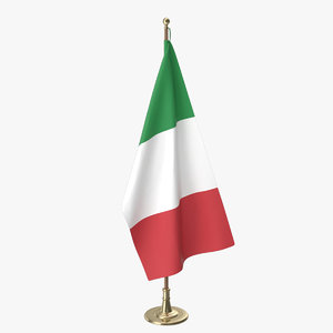 italian office flag 3D model