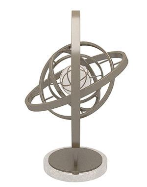 golden sphere showpiece model