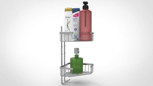 shower shelves model