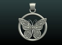 butterfly pendant 3D model