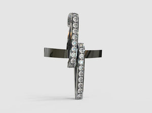 pendant diamonds cross model