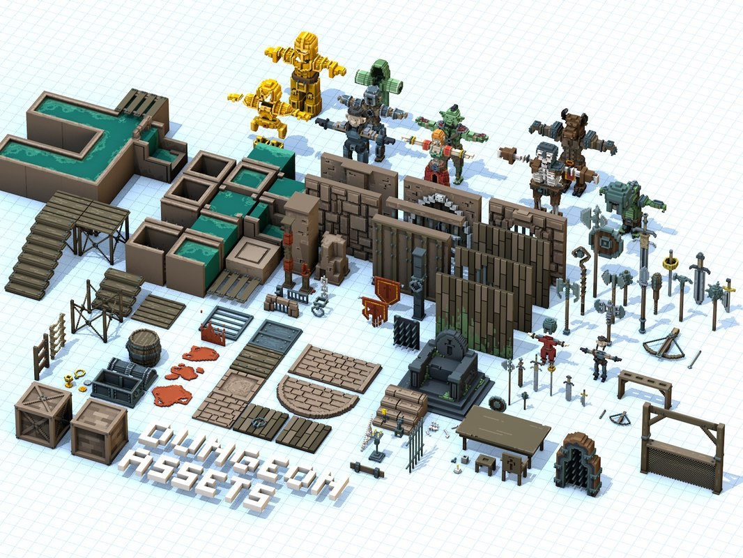 dungeon asset 3D model
