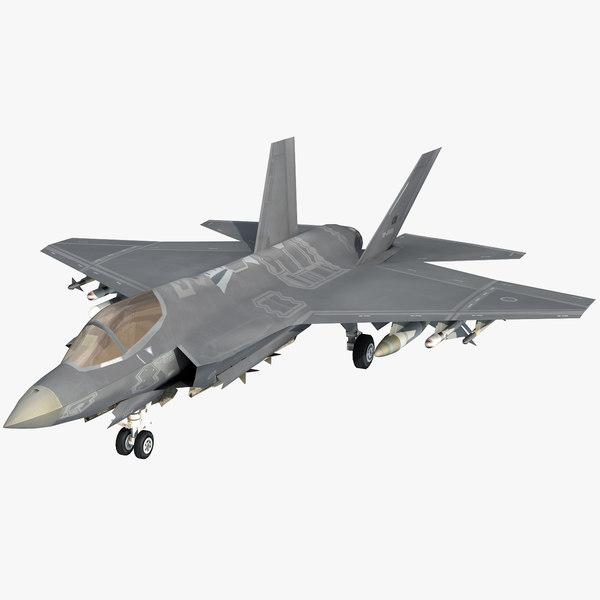 turkish air force f-35 3D model