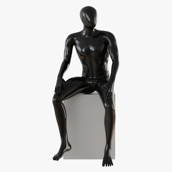 03 abstract black male model
