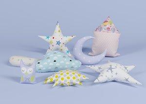 3D model baby pillows