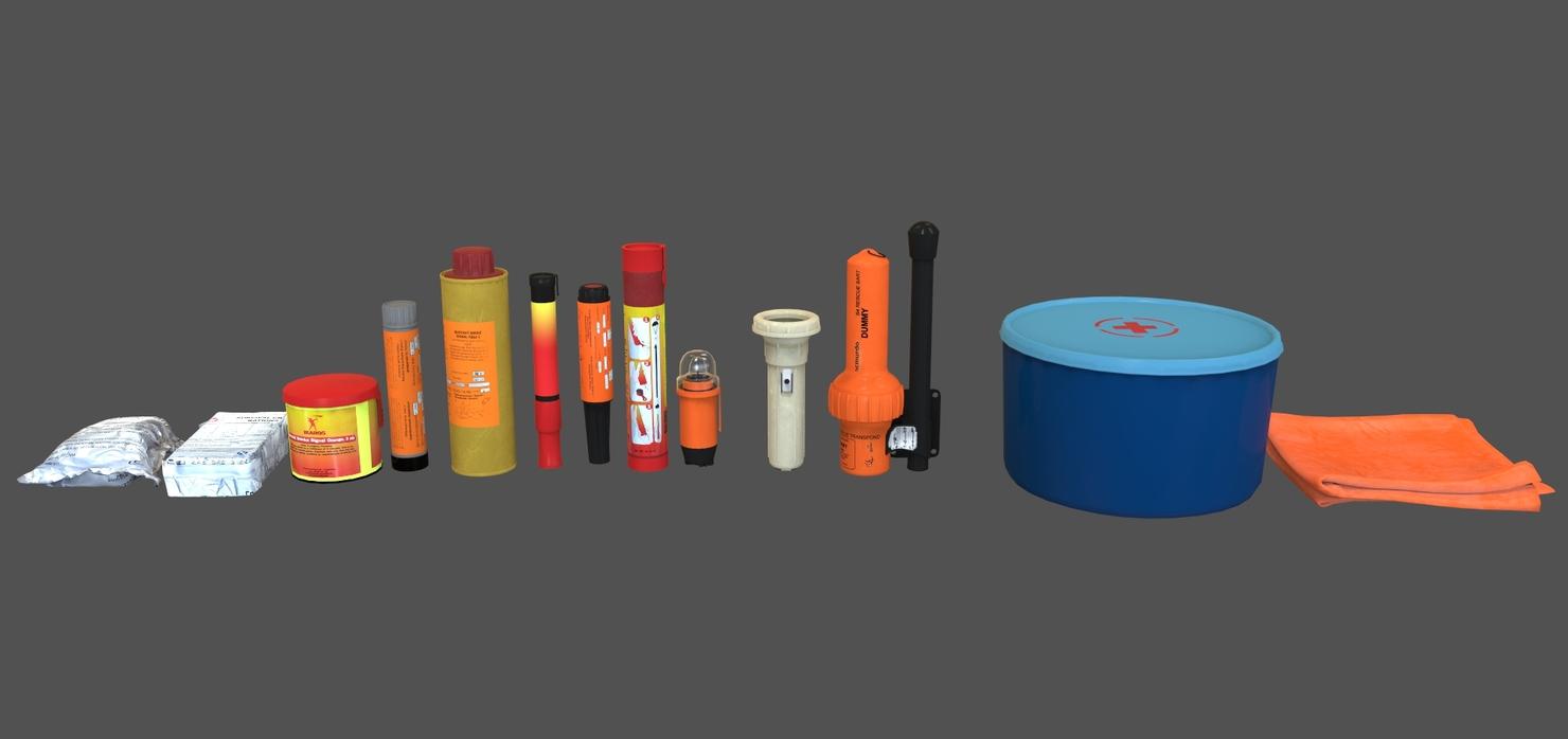 pyrotechnic signal sea 3D model