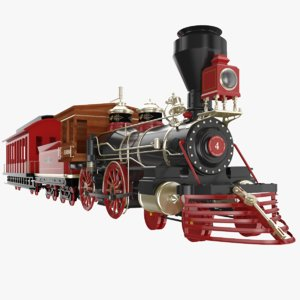 3D amusement park train model