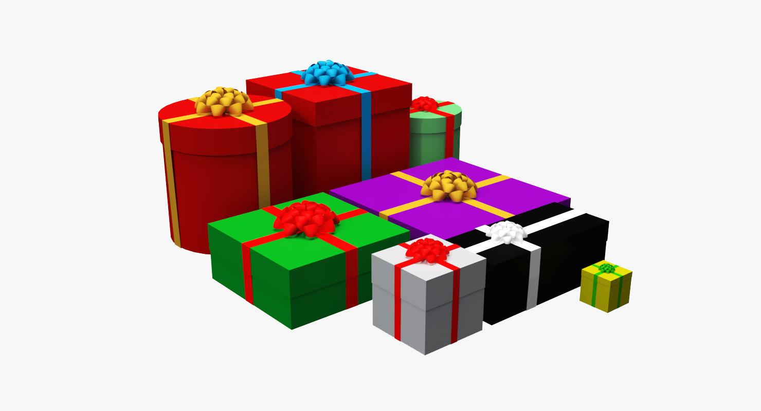 gift giftbox 3D