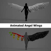 Angel Wings - Rigged - Animated