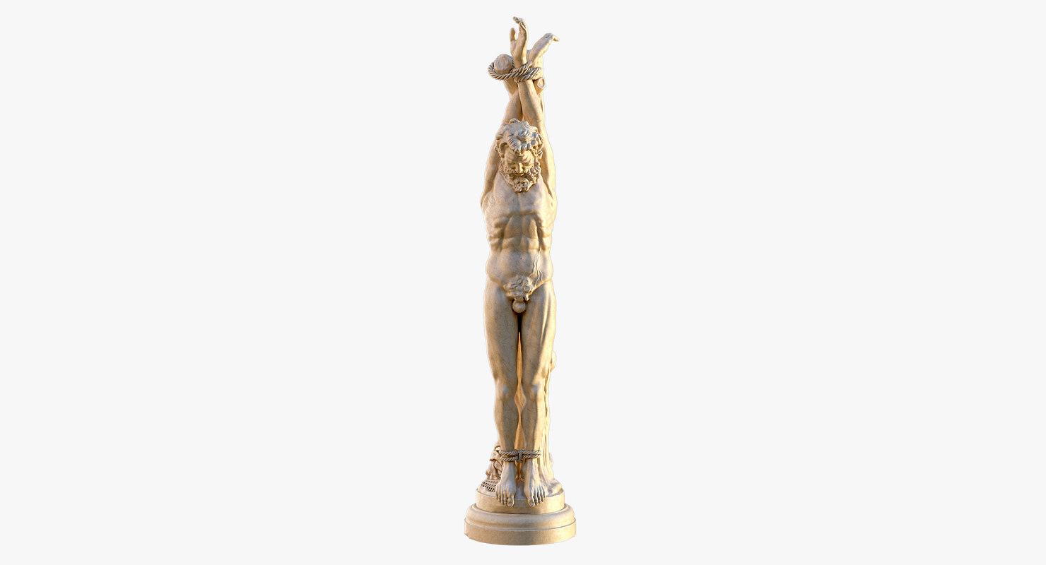3D statue marsyas model