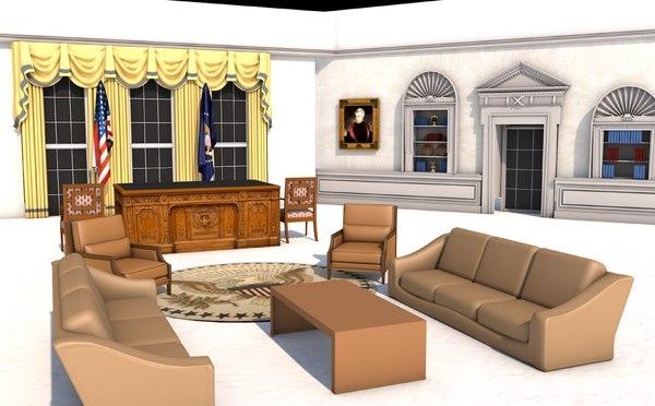 white house oval office model