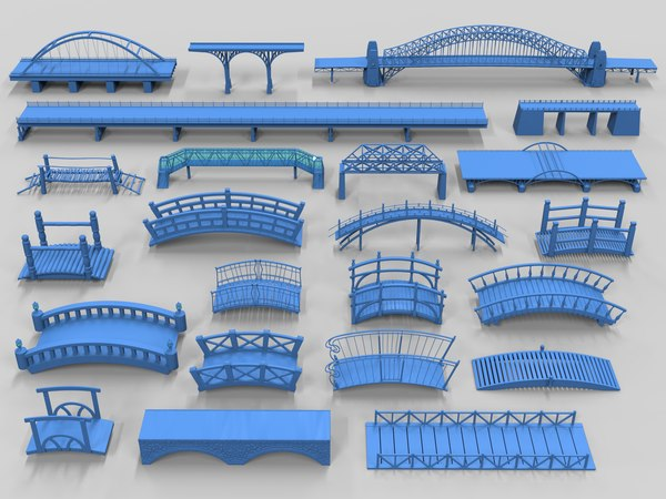 bridges - 23 pieces 3D