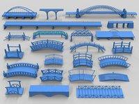 bridges - 23 pieces 3D