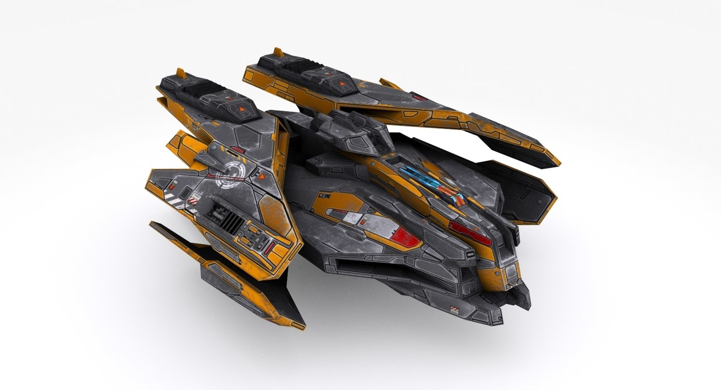 vehicle starship 3D model
