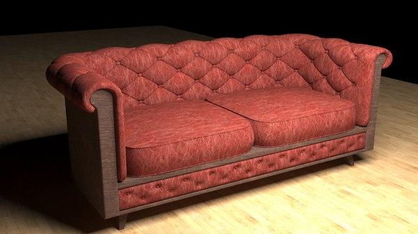 3D sofa chester classic